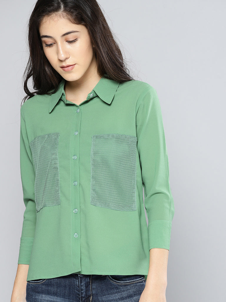 Regular Fit Solid Casual Shirt