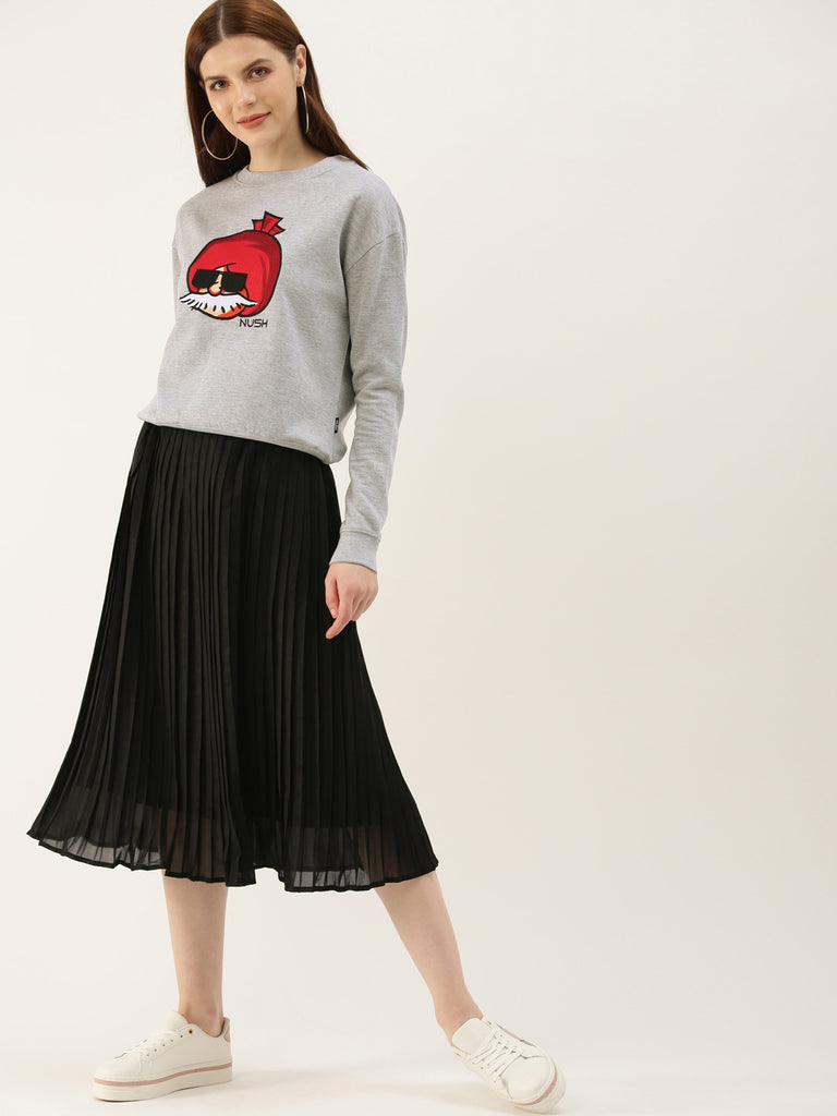 Cropped Embroidered Sweatshirt