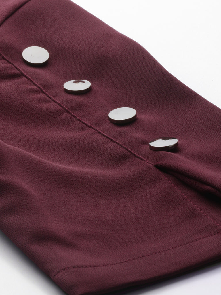 Solid Top With Sleeve Details