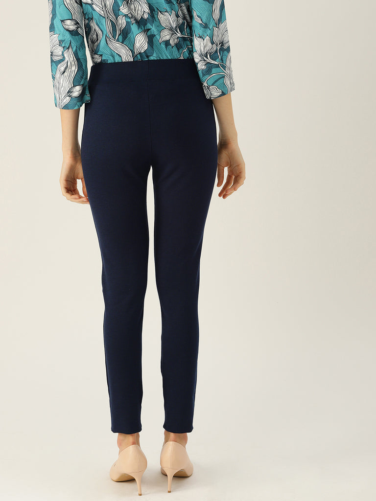 Navy Solid Legging Slim Fit