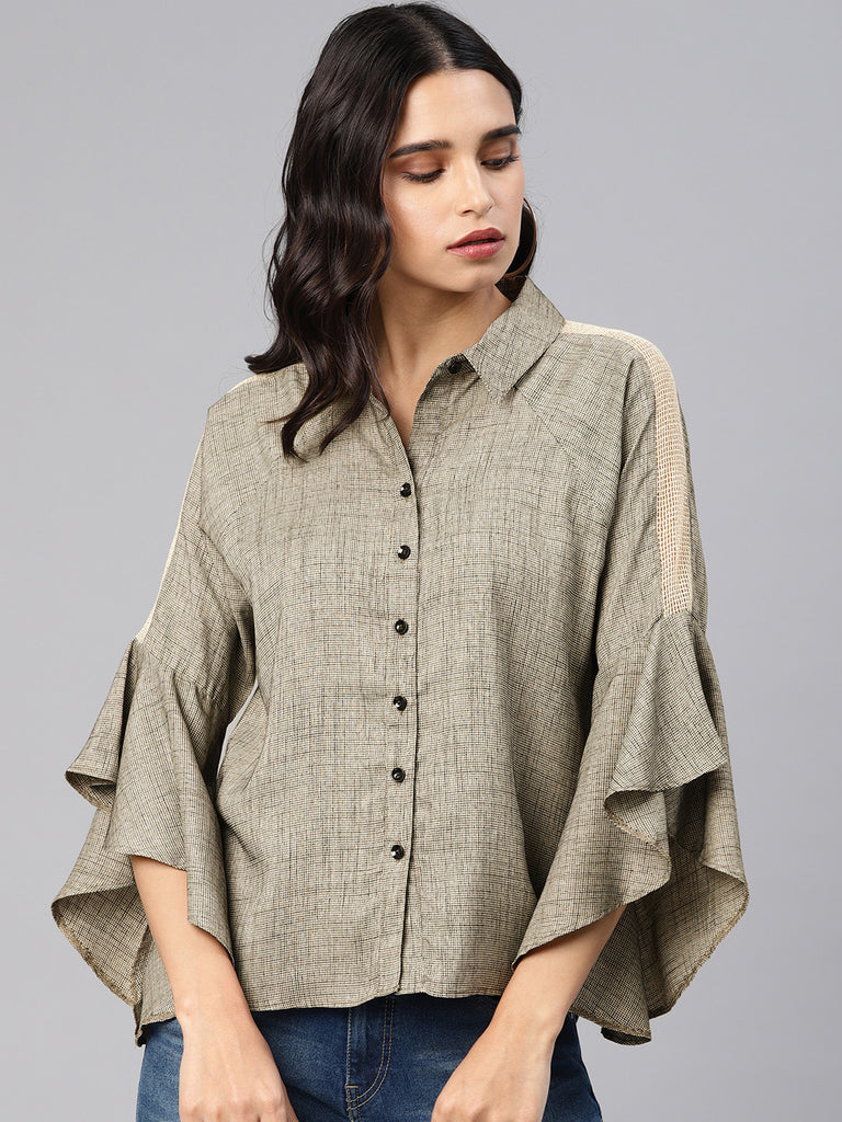 Shirt With Flared Sleeves