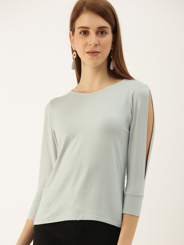 FULL SLEEVE COLD SHOULDER TOP