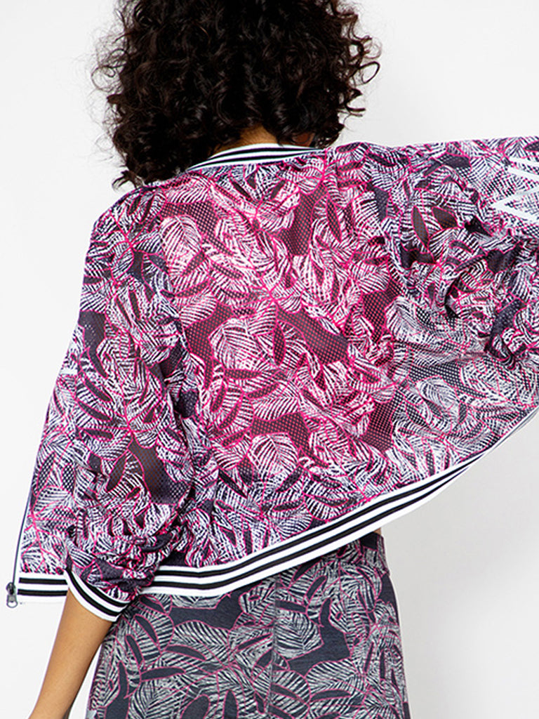 Printed Cropped Jacket