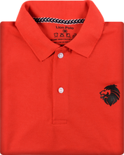 Load image into Gallery viewer, Combo of 3 Branded Men's Polo T-Shirts (Black, Red, Navy Blue)