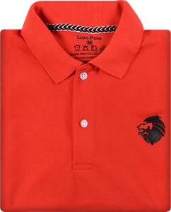 Combo of 3 Branded Men's Polo T-Shirts (Black, Red, Orange)