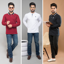 Load image into Gallery viewer, Dynamic Combo Pack Of 3 (Maroon, White & Navy Blue)