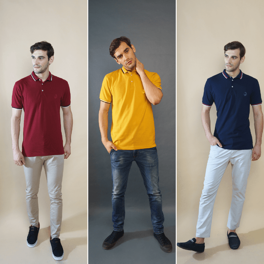 Regal Combo Pack of 3 - Maroon, Mustard, Navy Blue