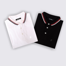 Load image into Gallery viewer, Pure White and Pitch Black Polo T-Shirts (Pack of 2)