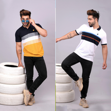 Load image into Gallery viewer, Drape Combo (Pack Of 2) - Mustard and White Striper Combo