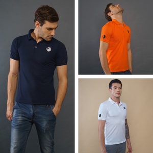 3 Pack Tshirts - Lion Polo (Navy blue, White, Orange)