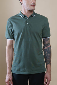 Sark Collection - Olive Half Sleeve Polo T-shirt