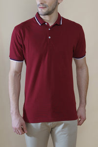 Sark Collection - Maroon half Sleeve Polo T-shirt