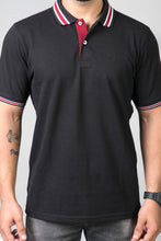 Load image into Gallery viewer, Pitch Black Polo T-Shirt