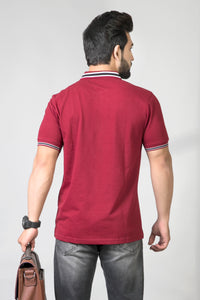 Dramatic Maroon Polo T-shirt