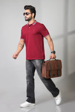 Load image into Gallery viewer, Dramatic Maroon Polo T-shirt