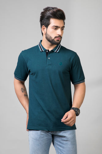 Aqua Teal Polo T-Shirt