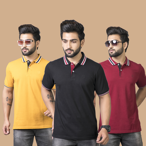 Segment Solid Combo Pack of 3 - Mustard, Black and Maroon