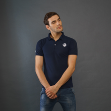 Load image into Gallery viewer, Navy Blue Polo T-Shirt