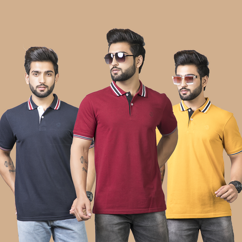 Mystery Solid Combo Pack of 3 - Navy Blue, Maroon and Mustard