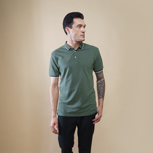 Load image into Gallery viewer, Sark Collection - Olive Half Sleeve Polo T-shirt