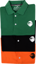 Load image into Gallery viewer, Combo of 3 Different Color Luxury T-Shirts for Men (Green, Black, Orange)