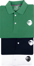 Load image into Gallery viewer, New Branded 3 Cotton T-Shirts for Men (Green, Navy blue, White)