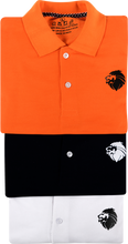 Load image into Gallery viewer, LionPolo Men's Cotton Soft Tshirts Combo - Pack of 3 (Orange, Black, White)