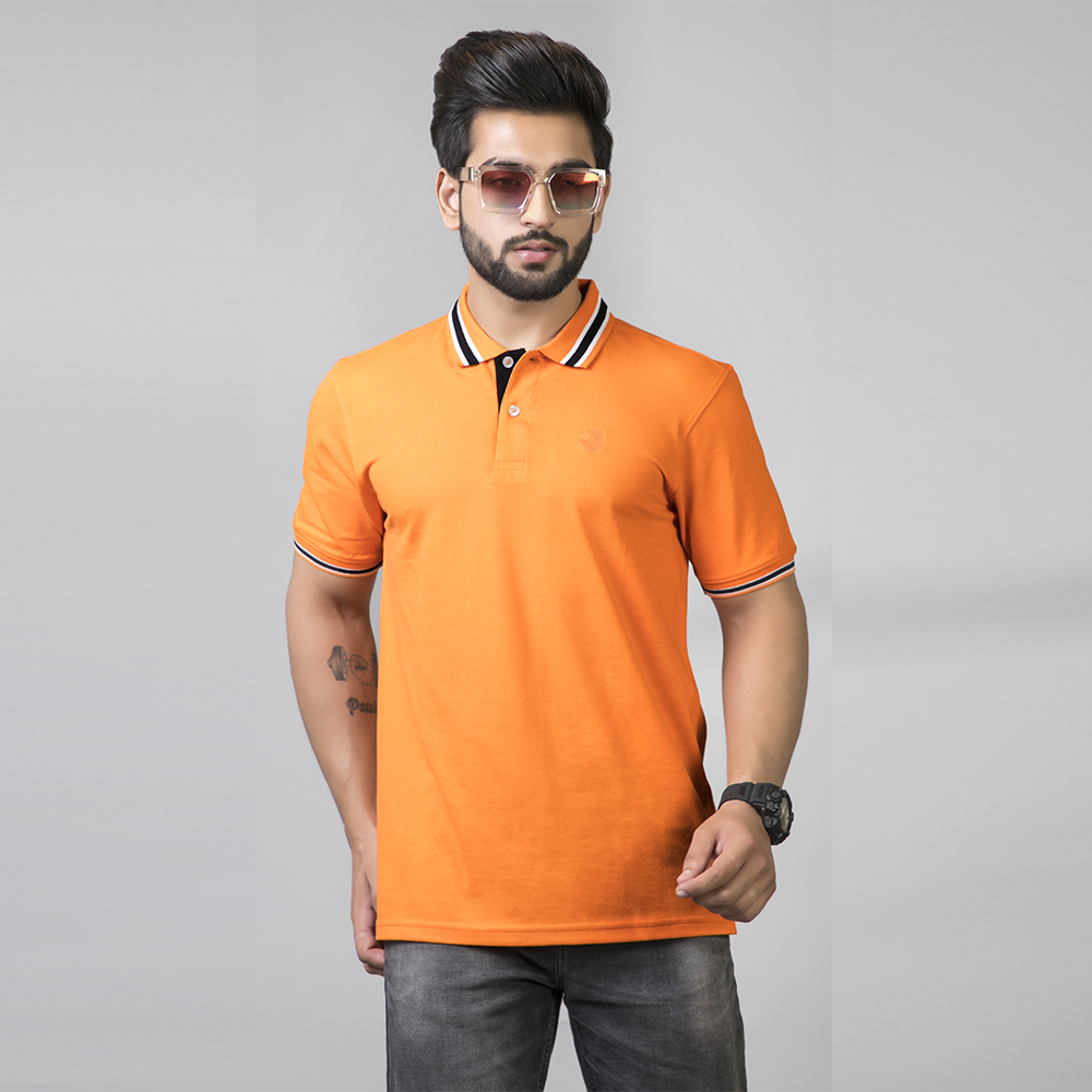 Magnetic Orange Polo T-Shirt