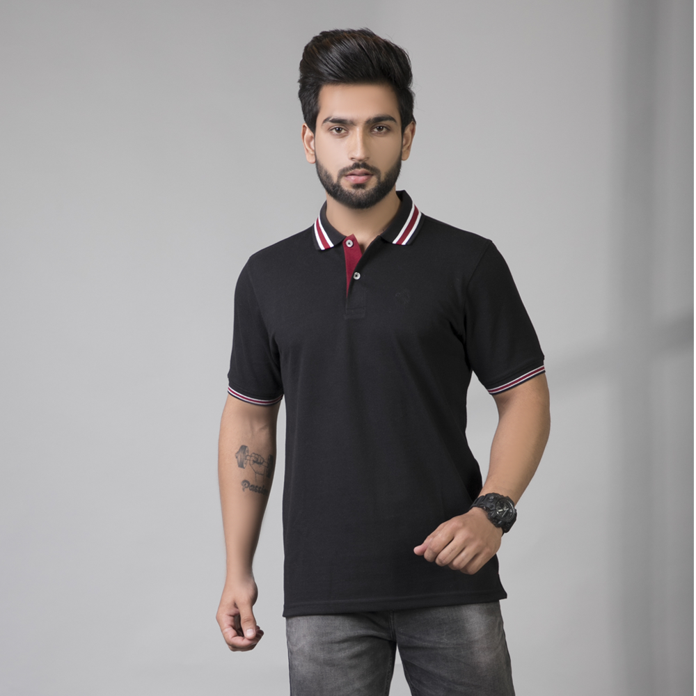 Pitch Black Polo T-Shirt