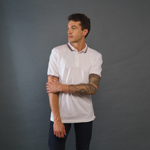 Load image into Gallery viewer, Pure White Polo T-Shirt