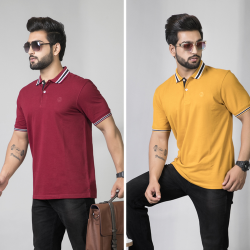 Admirable Combo (Pack of 2) - Mustard and Maroon Solid Combo