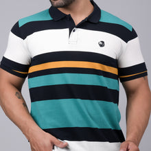Load image into Gallery viewer, Green Striper Polo T-Shirt