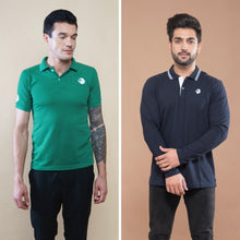 Load image into Gallery viewer, Drape Combo (Pack Of 2) - Green Half Sleeve and Navy Blue Full Sleeve
