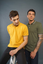 Load image into Gallery viewer, Eccentric Olive and Mustard Fever Polo T-Shirts (Pack of 2)