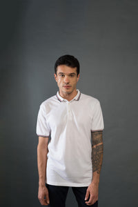 Pure White and Pitch Black Polo T-Shirts (Pack of 2)