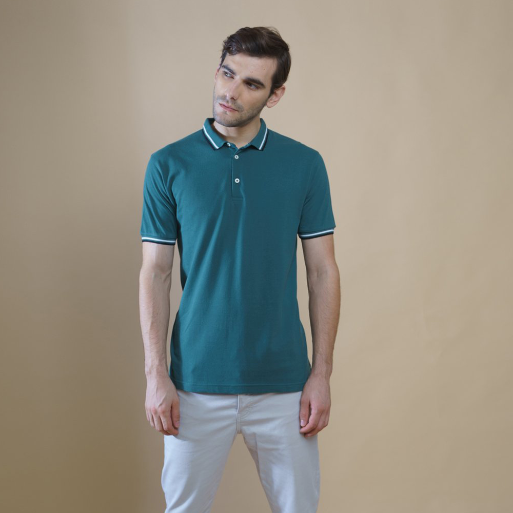 Sark Collection- Green Polo T-Shirt