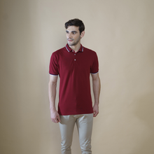 Load image into Gallery viewer, Sark Collection - Maroon half Sleeve Polo T-shirt