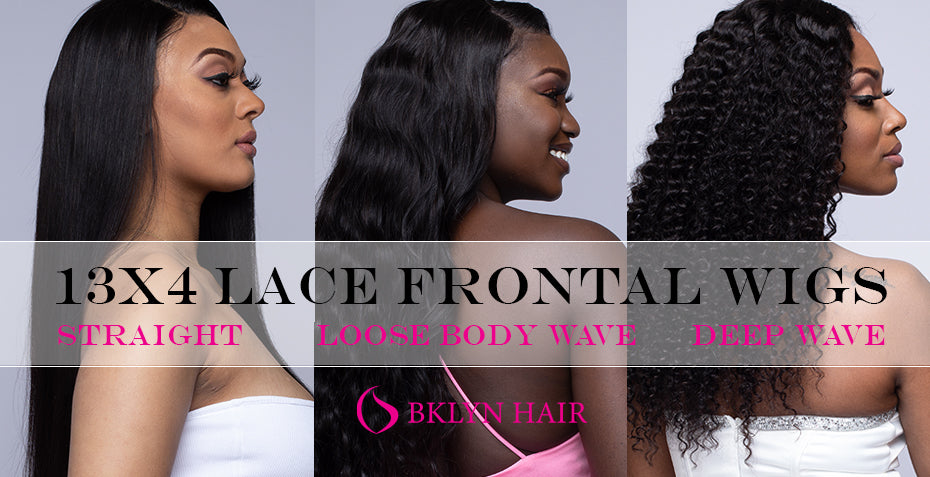 13x4 Lace frontal Wigs: Straight, Loose Body wave and Deep wave