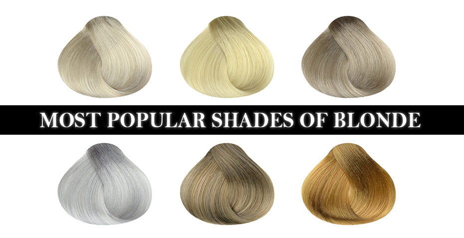Most popular shades of blonde