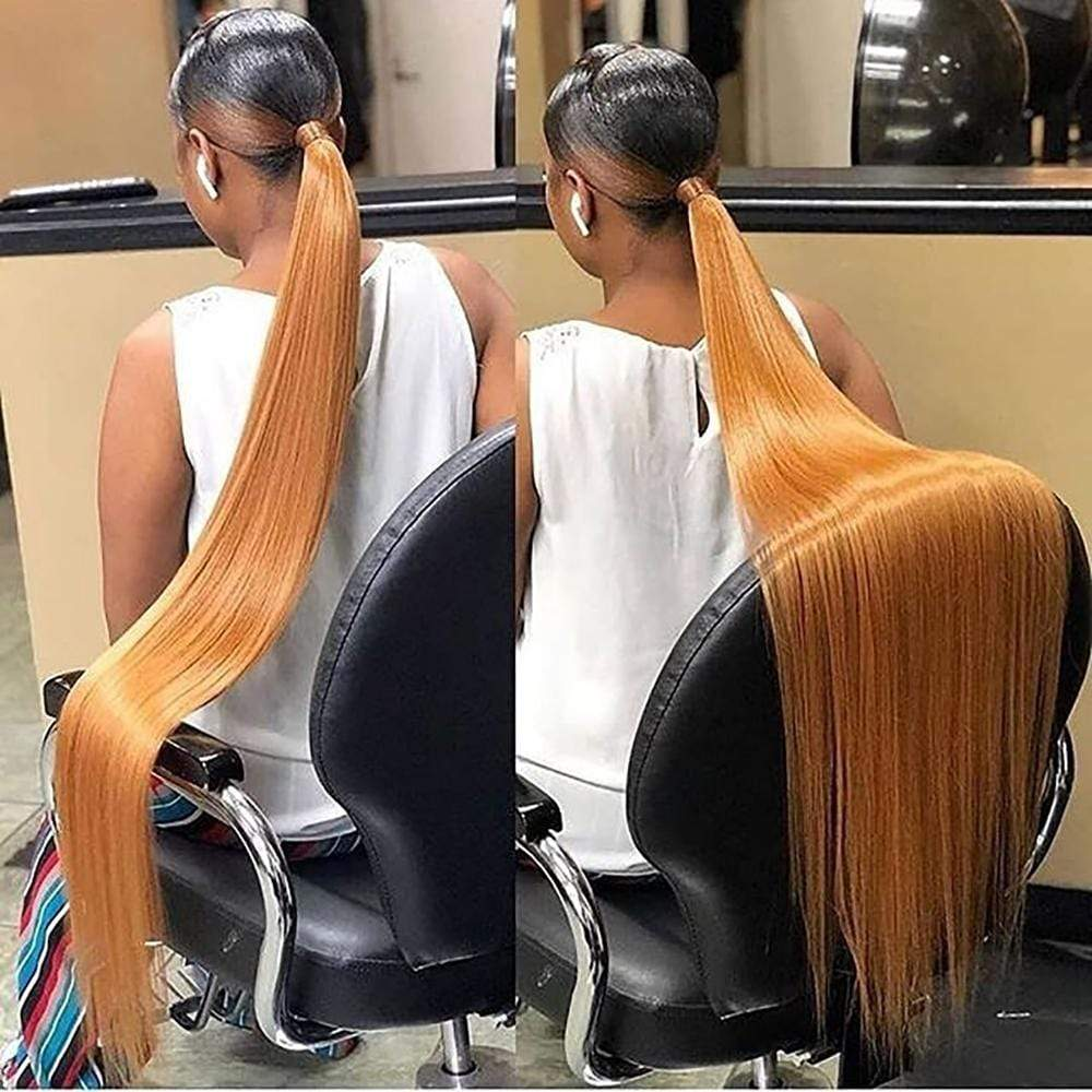 Brooklyn Hair Extension 9A Indian Bundle Hair Extra Long Straight Ponytail Style Weave Deal - Bundle Hair - Brooklyn Hair
