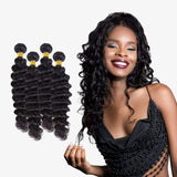 Brooklyn Hair 7A Grade 100% Brazilian Human Hair Extension Deep Wave Bundle Hair Weave 4 Bundle Deals - Bundle Hair - Brooklyn Hair