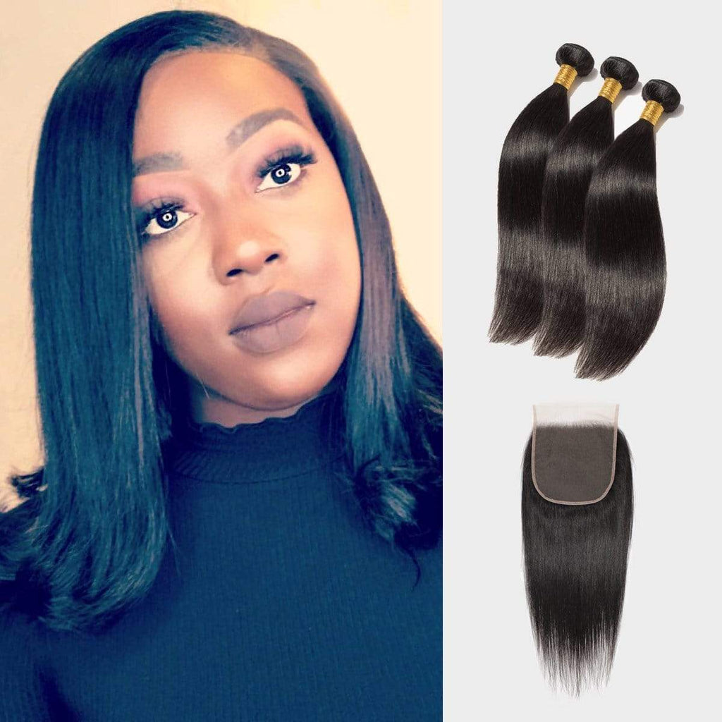 Brooklyn Hair 7A Straight / 2 Bundles with 6x6 Lace Closure Look by Renae - Brooklyn Hair