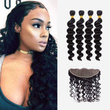 Brooklyn Hair 9A Loose Wave / 4 Bundles with 13x4 Lace Frontal Look - Bundle Hair - Brooklyn Hair
