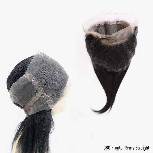 Brooklyn Hair 9A Grade 100% Virgin Brazilian Human Hair Remy Straight 360 Lace Frontal - Brooklyn Hair