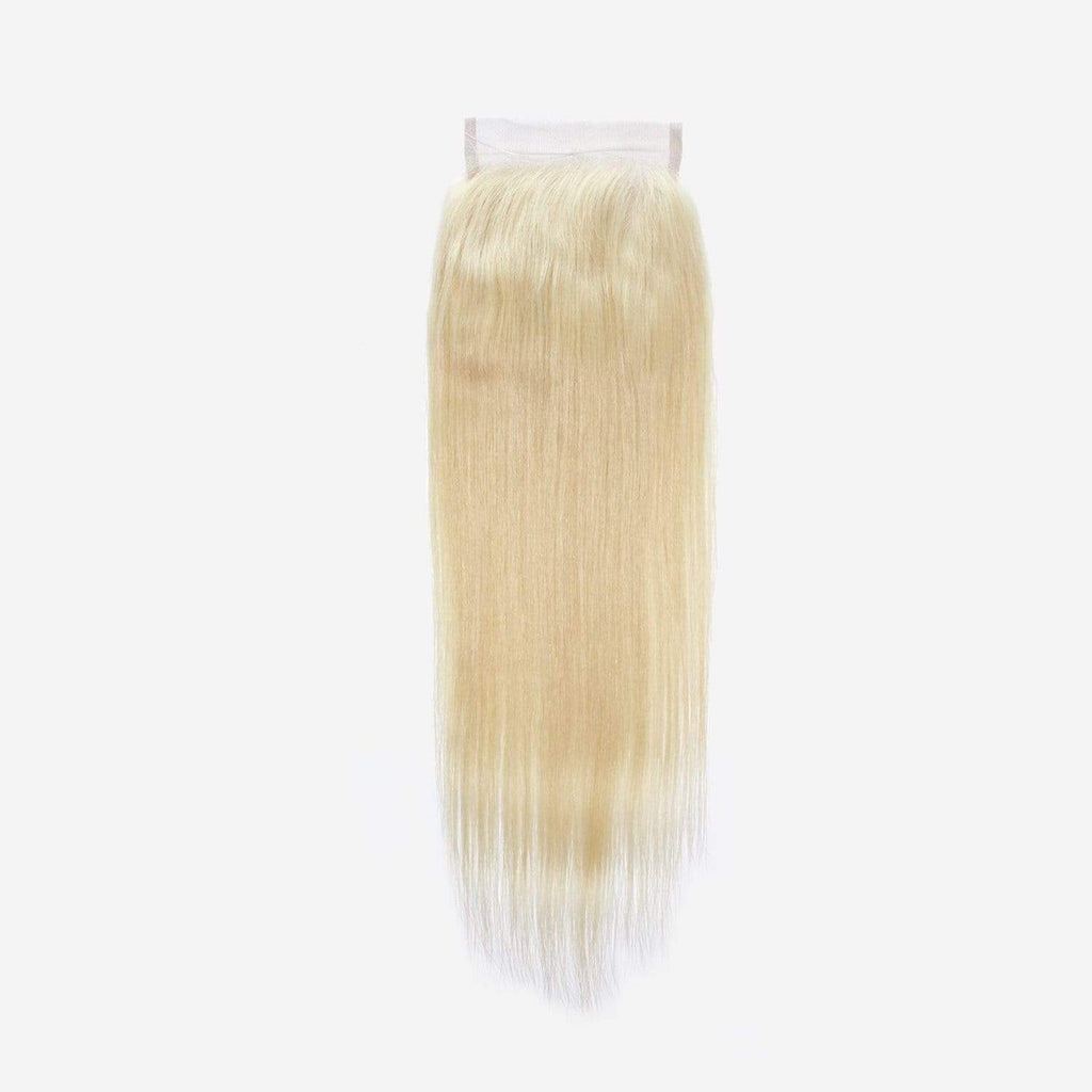 Brooklyn Hair 9A Platinum Blonde #613 Straight 4x4 Transparent (HD) Lace Closure - Bundle Hair - Brooklyn Hair