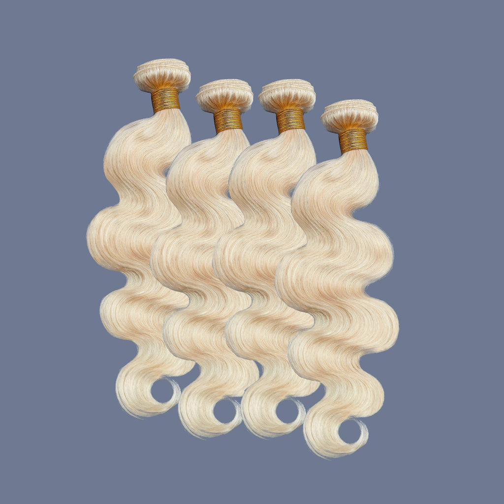 Brooklyn Hair 9A Grade Platinum Blonde 613 Hair 100% Brazilian Human Hair Extension Body Wave Bundle Hair Weave 4 Bundle Deals - Bundle Hair - Brooklyn Hair