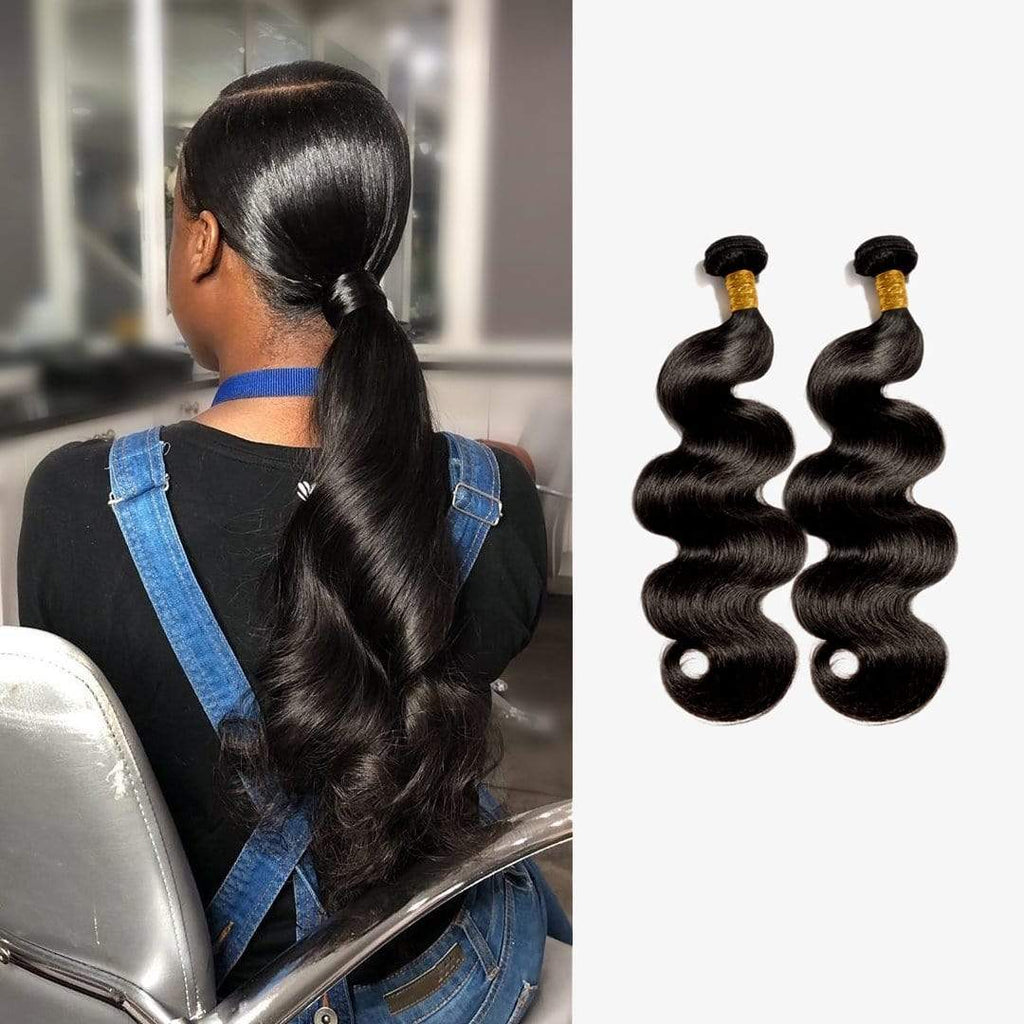 Brooklyn Hair 9A Body Wave / 2 Bundles Ponytail Look - Bundle Hair - Brooklyn Hair