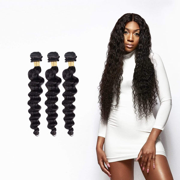 9A Peruvian Loose Deep 3 Bundle Deals - Brooklyn Hair