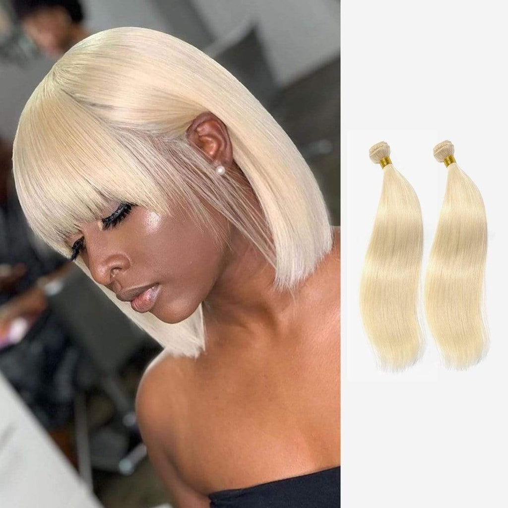 Brooklyn Hair 9A Platinum Blonde #613 Straight / 2 Bundles Look - Bundle Hair - Brooklyn Hair
