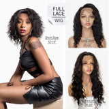 "Brooklyn Hair Full Lace Wig / Brazilian Loose Deep Wave Short Style 12-14"" - 100% Unprocessed Indian Human Hair - Bundle Hair - Brooklyn Hair"